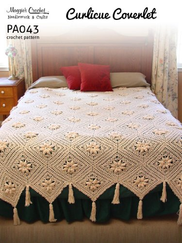 Crochet Pattern Curlicue Coverlet PA043-R (English Edition)