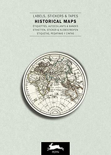 Historical Maps: Label & Sticker Book