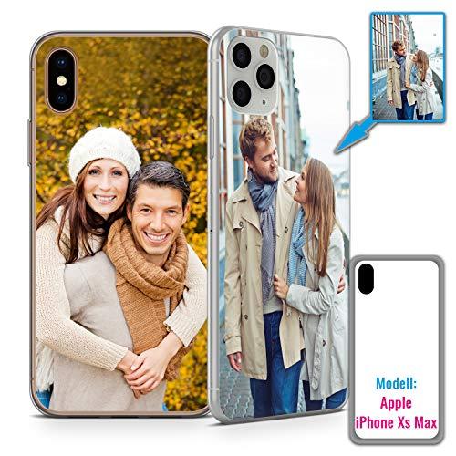 PixiPrints Foto-Handyhülle Kompatibel mit Apple iPhone XS Max selbst gestalten und mit eigenem Bild Bedrucken * Hüllentyp: TPU-Silikon/Transparent