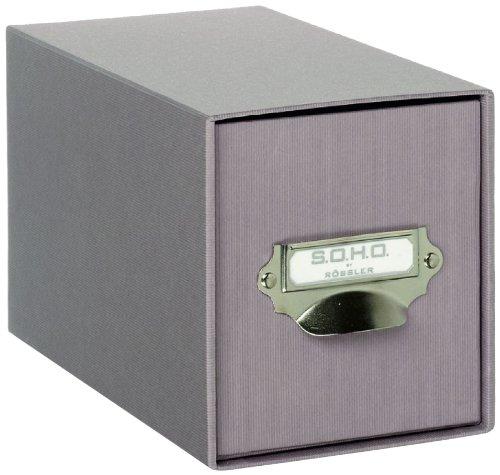Rössler Papier 1327452490 - S.O.H.O. CD-Schubladenbox Größe: 26,1 x 14,3 x 15,8 cm, in taupe