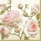 PAW - 20 servilletas de papel - 33 x 33 cm - 3 capas - floral vintage