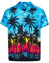 0b665c6a769843 King Kameha   Funky Chemise Hawaïenne   Hommes   XS - 12XL   Manche-Courte    Poche-Avant   Hawaiian-Imprimer  …