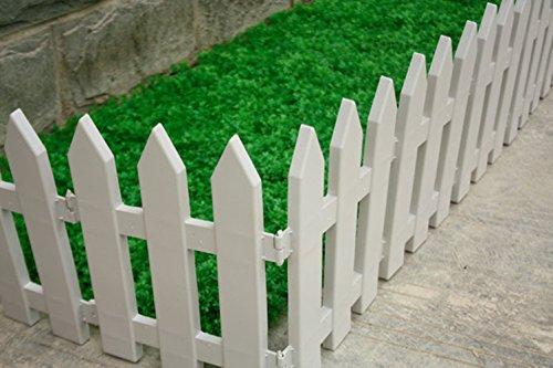IEVE 4 STÜCKE Flexible Garten Rasen Gras Kanten Streik Grenze Panel Kunststoff Mauer Zaun Hochzeit Dekoration Miniatur Hausgarten (Eine packung ist 100 cm insgesamt) Zaun Panels Garten