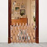 Cancello di sicurezza per animali domestici Cancello di sicurezza per Recinzione sicura per cani Recinzione in legno per cani Adatto per cani di piccola e media taglia | Estensibile 60-110 cm
