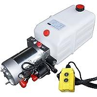 Hydraulikaggregat, Hydraulikpumpe 12 V 180 bar 2000 Watt mit 7 Liter Tank