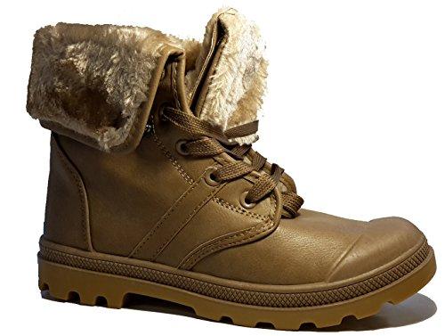 Bottes hiver très chaudes avec de la fourrure extérieure, chaussures femme doublées, modèle 11094104010008, beige, marron ou noir, différents modèles et tailles. Beige modèle C.