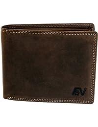 Lujosa cartera de piel hombres mujeres monedero cartera billetera en castaño tono natural