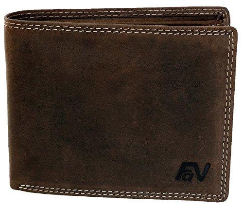 Fa.Volmer ® Herren Geldbörse aus Wild-Leder in Querformat mit RFID Schutz Typ #VO13