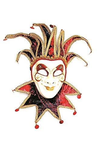 Kostüm Venedig Joker - Karneval-Klamotten Venezianische Maske Joker Luxus weiß bunt Karneval