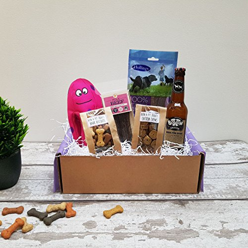 Poochie Presents Dog Treat Box Present Gift Hamper - The Cheeky Chewer Premium Gift Box