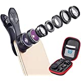 HITSAN Apexel APL-DG7 7 In 1 Fisheye Wide Angle Mcro Lens 2X Zoom CPL Filter Kit Set For Moble Phone Tablet One Piece