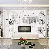 Camera da letto soggiorno divano TV comodino sfondo carta da parati grande murale arte decorativa satinata_350 * 250cm