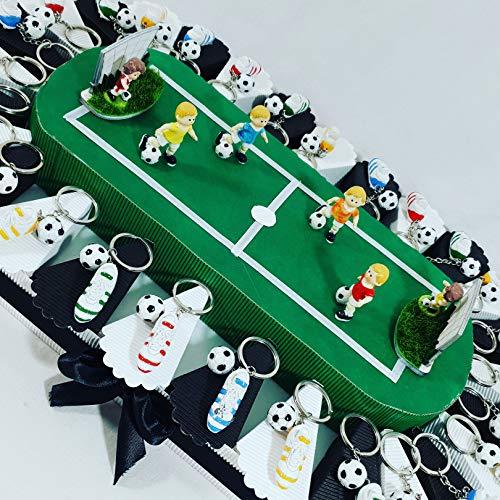 Bomboniere calcio portachiavi scarpetta con pallone e campo da calcio stadio squadra a scelta (27 portachiavi campo juventus)