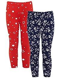 Naughty Ninos Girls Cotton stretch combo pack of 2 leggings
