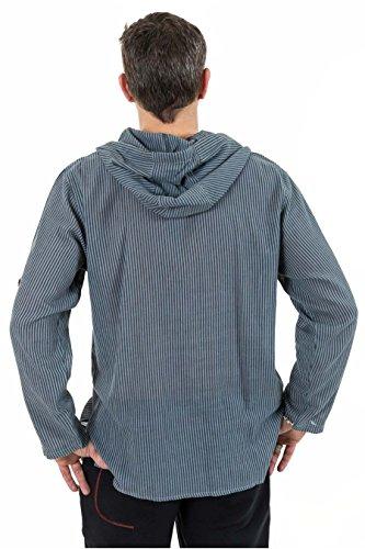 - Chemise modulable chemisette capuche Rhoddi - Gris