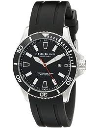 Stührling Original 706.01 - Reloj analógico para hombre, correa de silicona, color negro