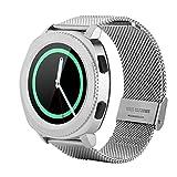 Naroote Smartwatch, Microwear L2 Stahlband Fashion Sports Bluetooth wasserdichte Uhr(Silber)