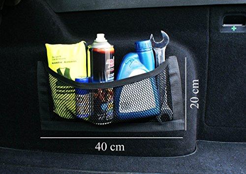 Preisvergleich Produktbild Universale Netztasche Beutel mit Klett (haftet an Kofferraum) Organizer 40 x 20 cm [031 / 1]
