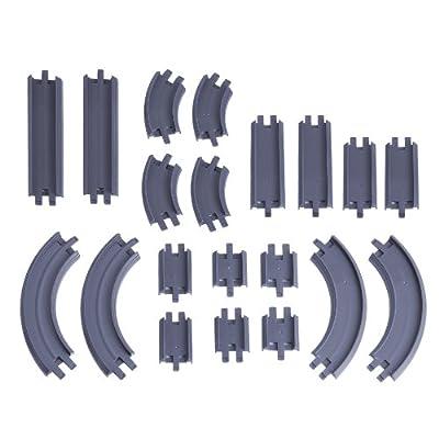 Chuggington Die Cast LC54302 - 20 piezas de accesorios Rail - Pack Chuggington de Fundición, rieles rectos y curvos por RC2 (Learning Curve)