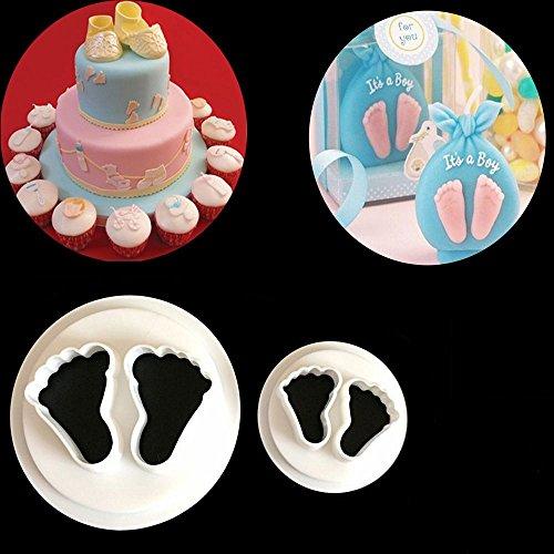 Baby Füße Ausstecher Sugarcraft Keks Gebäck Fondant Cutter Kuchen