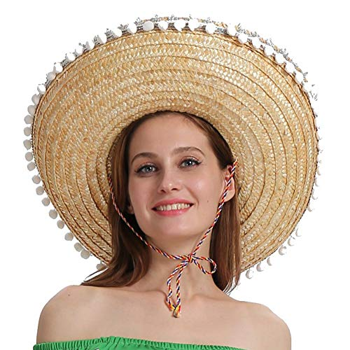 Sunflowerany Mexikanischer Strohhut für Männer und Frauen, Carnival Crazy Night Halloween Fancy Dress ()