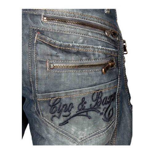 Cipo & Baxx Herren Straight Leg Jeans C-0751 blue/blau
