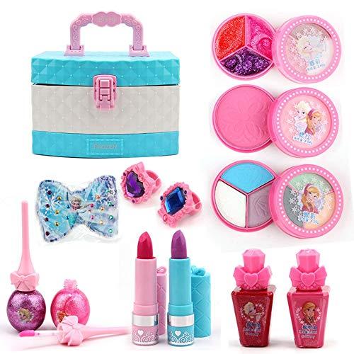 Kinderkosmetik Wasser-auflöseres Makeup Set Box Snow Princess Little Makeup Box Girl es Makeup Set ist eine Gute Wahl für Kinder, um Geschenke ()