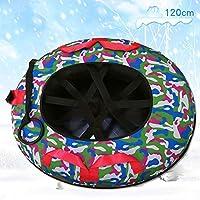 ZHAOK Trineo de Nieve Tubo de Nieve para diversión de Invierno Trineo de Nieve Inflable de 47 Pulgadas para niños y Adultos, Fabricado con Material espesante de 0.3 mm,b