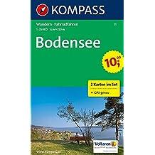 Bodensee: Wanderkarten-Set. GPS-genau. 1:50000 (KOMPASS-Wanderkarten, Band 11)