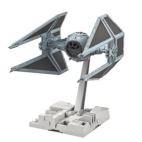 """Featured in the Star Wars movie, """"Return of the Jedi"""", the infamous TIE Interceptor has been faithfully recreated in 1/72 as a plastic model kit utilizing Bandai trade mark color injection process. A nipper or sprue cutter (sold separately) is requir..."""