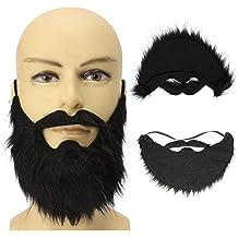 b1903a14f9e576 Brussels08 Funny fête costumée mâle Homme Halloween barbes Disguise Jeu  Noir Moustache Faux Noir Barbe Faux