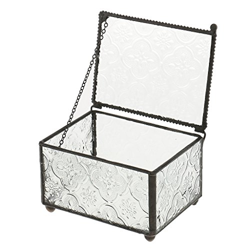 petsola Cube Glas Schmuckschatulle Tabletop Terrarium Pflanzen Sukkulenten Pflanzenkasten -...