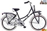 Spirit Mädchenrad Omafiets Schwarz-Weiß 22 Zoll