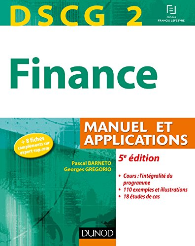 DSCG 2 - Finance - 5e édition - Manuel et applica...