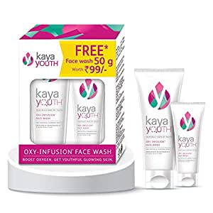 Kaya Youth Oxygen Boost Face Wash, Instantly Fresh & Glowing Skin, 100 g with Free Face Wash, 50 g