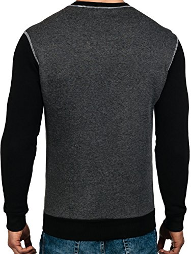 BOLF – Sweat-shirt – Manches longues – U-neck – ATHLETIC 0594 – Homme Anthracite