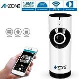 A-ZONA Nueva cámara sin hilos con el cuidado del bebé Monitor de Vigilancia de la cámaras  de vigilancia Pan y del azulejo de Play & Plug