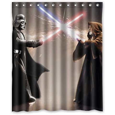 Outer-space Lovelife Star Wars Fight Between Darth Vader And Jedi Custom Shower Curtain 66