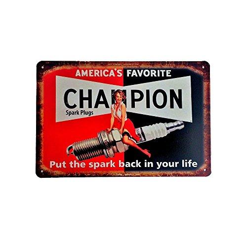 Cartel de chapa vintage Decoración, Letrero A4 Estilo Antiguo de metálico Retro - America's favorite Champion