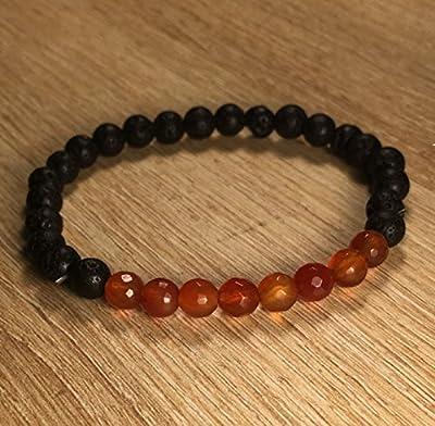 bracelet CORNALINE pierre de Lave Féminité Grossesse Fertilité
