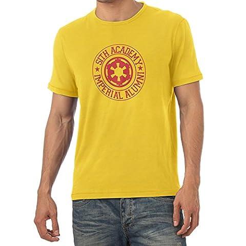 TEXLAB - Imperial Alumni - Herren T-Shirt, Größe XXL, gelb (Leia Organa Kostüm)