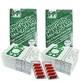 Sacchetti Aspirapolvere E Filtri HEPA Per Numatic Henry Hetty etc. (Confezione da 10, 20 o 40 pezzi + Deodorante Stick Opzionale) - 20 sacchetti + 10 deodoranti