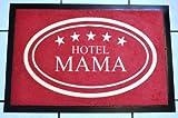 Fussmatte 'Hotel Mama', 40cmx60cm, waschbar, Schmutzfangmatte