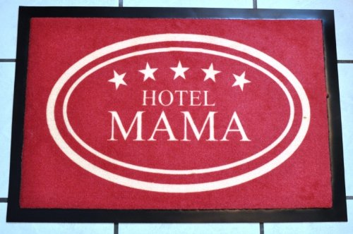 KUHEIGA Fussmatte \'Hotel Mama\', 40cmx60cm, waschbar, Schmutzfangmatte