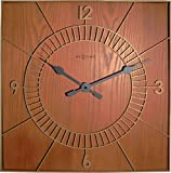 NeXtime 3112br Wood Square Wanduhr Holz braun 50x 50x 5cm
