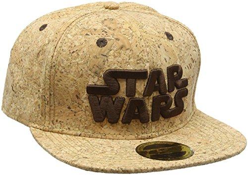 STAR WARS Embroidered Main Logo Snapback Baseball Cap, Tan/Cork (SB160841STW)