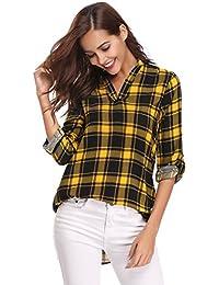 on sale 668d8 1e60b Amazon.it: Fantasia - Giallo / Bluse e camicie / T-shirt ...