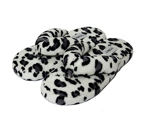 Onmygogo  Amazing Animal Prints, Damen Hausschuhe Grey Leopard