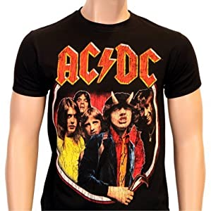 Coole-Fun-T-Shirts, Maglietta AC/DC Highway to Hell - Vintage Distressed