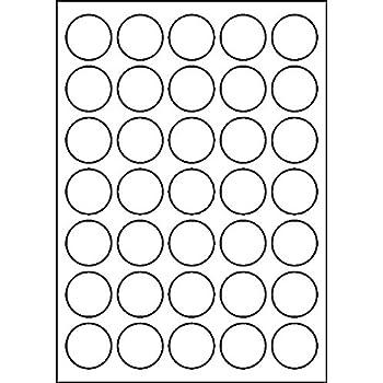 240 Etiketten selbstklebend rund 30 mm weiß auf Bogen A4 5 Bögen x 48 Etik.